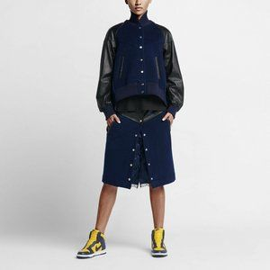 Nike x Sacai Women's Windrunner Wool/Leather Skirt
